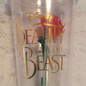 NWOT Disney beauty and the beast light up rose cup